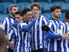 Liam Palmer (third left) opened the scoring for Sheffield Wednesday (Barrington Coombs/PA)