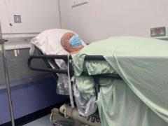 Chris Spencer in hospital (Alex Roberts)