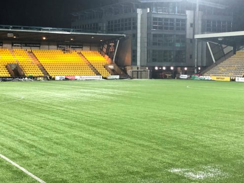 LIvingston's pitch was waterlogged (Gavin McCafferty/PA