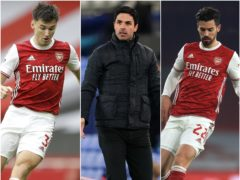 Mikel Arteta saw Kieran Tierney and Pablo Mari pull out of Arsenal's game with Crystal Palace (Kirsty Wigglesworth/Jon Super/Adam Davy/PA)