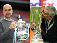 Pep Guardiola, left, and Jose Mourinho have excellent records in major finals (Nick Potts/PA)