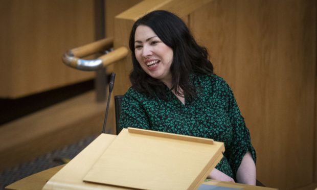 Scottish Labour's Monica Lennon during First Minster's Questions in the debating chamber of the Scottish Parliament in Edinburgh. Picture date: Wednesday January 20, 2021.  PA Photo. See PA story SCOTLAND Questions. Photo credit should read: Jane Barlow/PA Wire