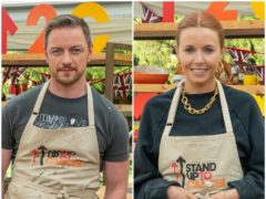 James McAvoy and Stacey Dooley (Channel 4/Love Productions)