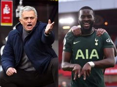 Jose Mourinho heaped praise on Tanguy Ndombele (Stu Forster/Laurence Griffiths/PA)