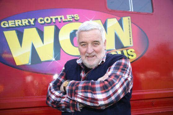 Gerry Cottle, centre, has died (PA)