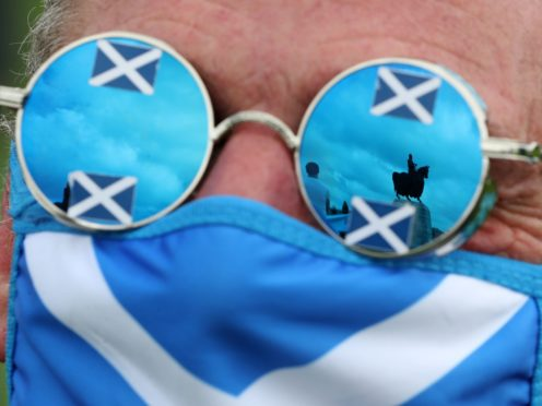 The latest poll shows a drop in support for independence, but it is still ahead of backing for the union (PA)