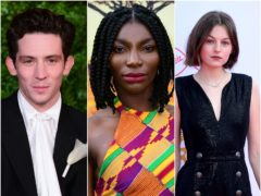 Michaela Coel and The Crown's Josh O'Connor and Emma Corrin have been nominated for SAG Awards (PA)