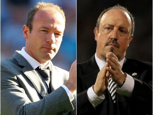 Both Alan Shearer, left, and Rafael Benitez were unable to spare Newcastle from relegation (Nick Potts/Adam Davy/PA)
