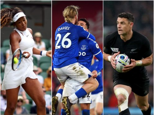 Naomi Osaka and Everton's players had reason to celebrate, while New Zealand great Dan Carter hung up his boots (Steven Paston/Paul Ellis/Mike Egerton/PA).