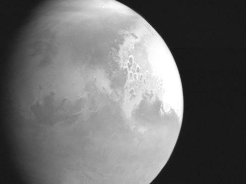 Image of Mars taken by China's Tianwen-1 (CNSA/PA)