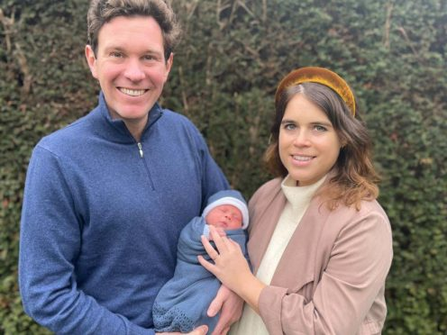 Princess Eugenie and Jack Brooksbank have named their son August Philip Hawke Brooksbank (Princess Eugenie and Jack Brooksbank/PA)
