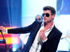 Robin Thicke's single Blurred Lines topped the UK charts for five weeks in 2013 (Ian West/PA)