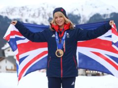 Great Britain's Jenny Jones with her bronze medal (Mike Egerton/PA)