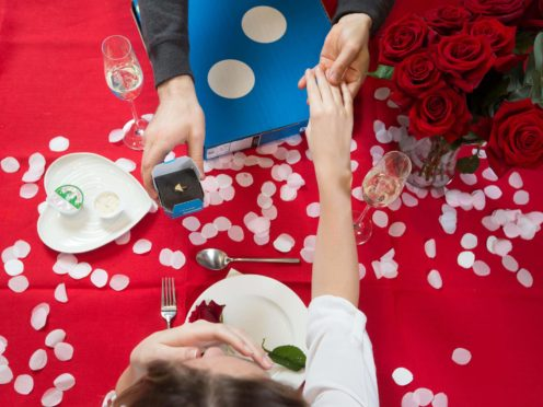 The pandemic may cause problems for couples but they can still celebrate events such as Valentine's Day (David Parry/PA).