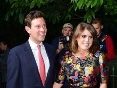 Jack Brooksbank and Princess Eugenie of York (Ian West/PA)
