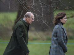 The Duke of Edinburgh and Princess Eugenie (Joe Giddens/PA)