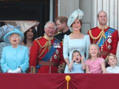 The Queen with great-grandchildren Princess Charlotte, Prince George and Savannah Phillips (Yui Mok/PA)