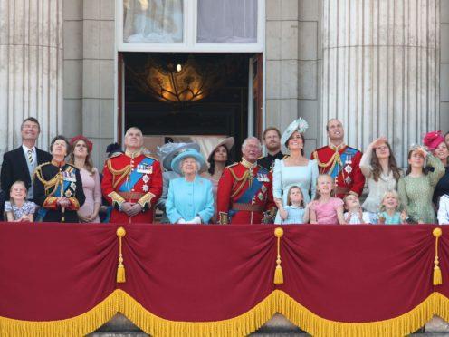 The royal family on the Buckingham Palace balcony (Yui Mok/PA)
