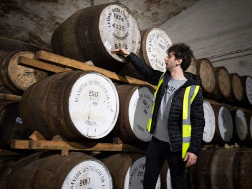 The number of distilleries in the UK has jumped in the last four years (Jane Barlow/PA)
