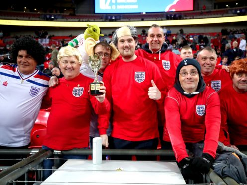 England fans could be back at Wembley in June (Nick Potts/PA)