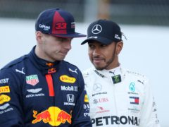 Max Verstappen, left, is not thinking about his future amid speculation linking him with a move to Mercedes as Lewis Hamilton's replacement (David Davies/PA