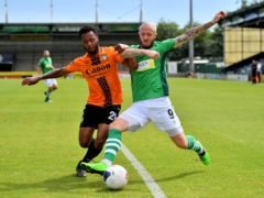 Yeovil's Rhys Murphy scored his side's first goal in their 2-0 win over Altrincham (Ben Birchall/PA)