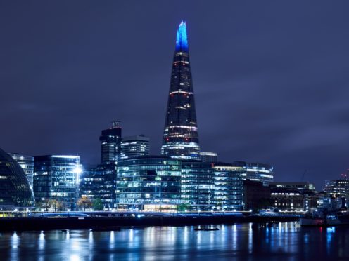 Looking across to The Shard and City Hall, London (PA)