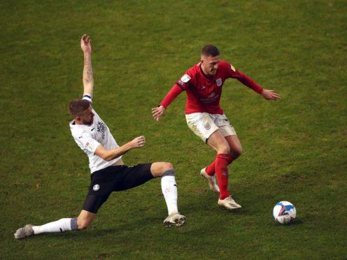 Crewe's Oli Finney (right) suffered a broken leg last week (Tim Goode/PA)