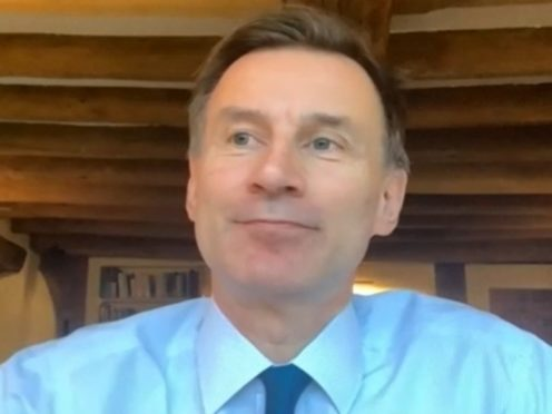 Jeremy Hunt chairing the Health and Social Care Committee (PA)