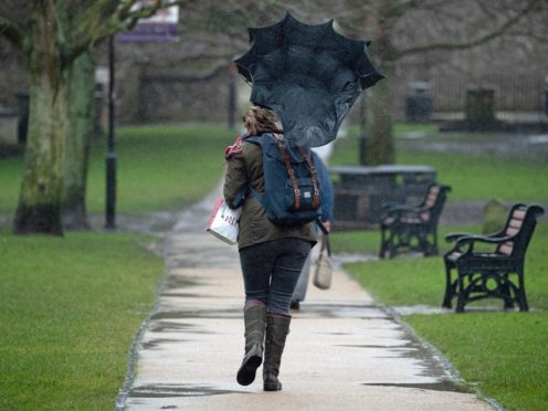 Parts of Scotland have to be hit by heavy rain high winds (Andrew Matthews/PA)