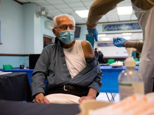 Ministers are urging remaining over 70s to get the coronavirus vaccine jab (Jacob King/PA)