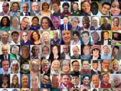 A composite image shows some of those who have died in the health and care services while fighting the pandemic (PA)
