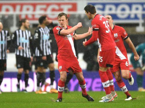 Southampton's James Ward-Prowse (centre) has scored 10 free-kicks in the Premier League (Gareth Copley/PA).