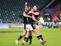 Scotland's victory celebrations will be the enduring image of round one of the Six Nations (David Davies/PA)