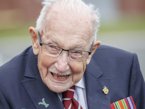 Captain Sir Tom Moore died after testing positive for Covid-19 (Danny Lawson/PA)