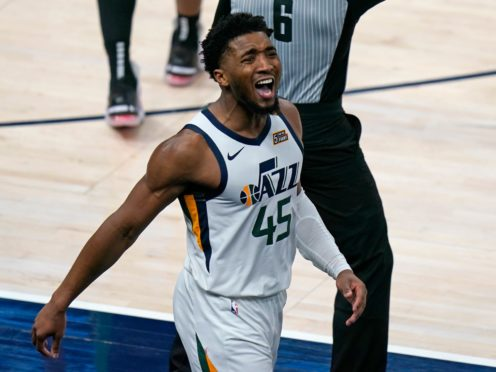 Donovan Mitchell starred in his side's win on Tuesday (Rick Bowmer/AP)