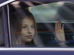 Princess Leonor obtained admission to the school anonymously (Manu Fernandez/AP)