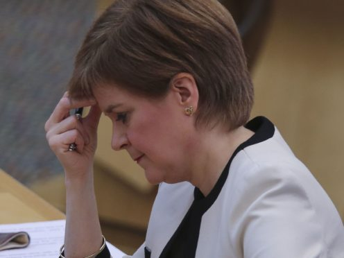 First Minister Nicola Sturgeon said she would not answer a 'hypothetical' question about whether she would resign if found to have breached the ministerial code (Fraser Bremner/Daily Mail/PA)