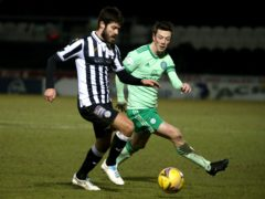 St Mirren's Ryan Flynn, left, is ready to fight for his place in Jim Goodwin's team (Andrew Milligan/PA)