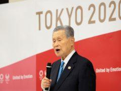 Tokyo 2020 organising committee president Yoshiro Mori announces his resignation (Yoshikazu Tsuno/AP)