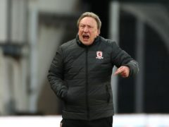 Neil Warnock's Middlesbrough were defeated at Derby (Bradley Collyer/PA)