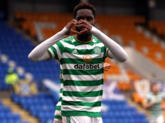 Odsonne Edouard scored twice to turn the game around for Celtic (Ian McNichol/PA)