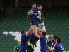 France captain Charles Ollivon (left) is among five new Covid-19 cases in Les Bleus squad (Brian Lawless/PA)