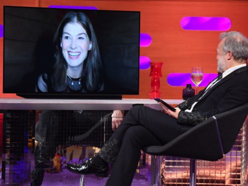 Rosamund Pike on the Graham Norton Show (Matt Crossick/PA)