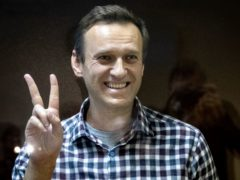 Russian opposition leader Alexei Navalny in the Babuskinsky District Court in Moscow (AP)