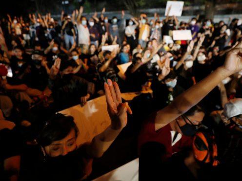 Pro-democracy protester during a protest in Bangkok, Thailand (AP)