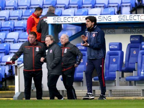 Veljko Paunovic's Reading lost to Middlesbrough (John Walton/PA)