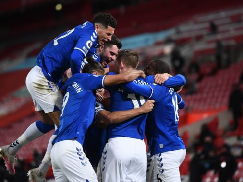 Everton defeated Liverpool in the Merseyside derby (Laurence Griffiths/PA)