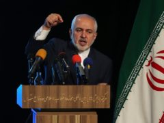 Iran's Foreign Minister Mohammad Javad Zarif addresses in a conference in Tehran (Vahid Salemi/AP)