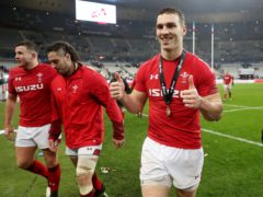 Wales star George North (right)